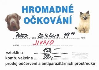 Hromadné očkování psů a koček